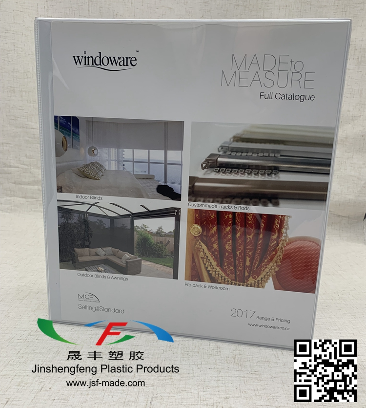 White Plastic 4D Ring Binder,Plastic Binder With Paper
